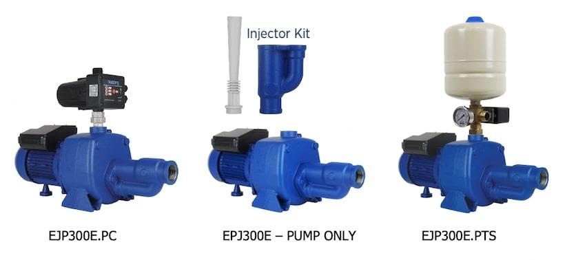 Reefe EJP300E heavy duty pressure pump with 3 options