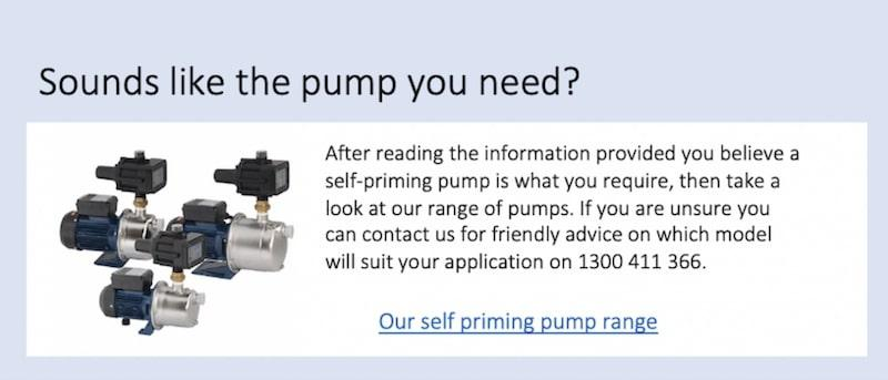 Self priming pressure pumps Water Pumps Now