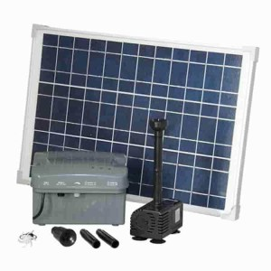 Solar pond and fountain kits with battery back-up - Water Pumps Now