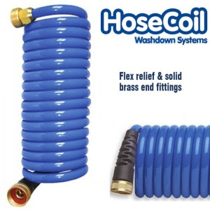 HoseCoil 7.6m flex relief flexible deckwash water pump hose - Water Pumps Now