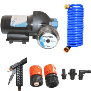 Jabsco J20-162 deckwash pressure pump kit w hose - Water Pumps Now