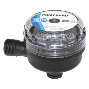 Jabsco pumpgard water pump strainer filter 12mm plugin male BSP thread style