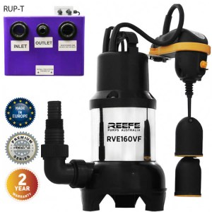 Reefe RUP160-T undersink waste water pump system w vortex sump pump - Water Pumps Now