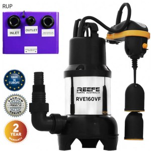 Reefe RUP160 undersink waste water pump system w vortex sump pump - Water Pumps Now