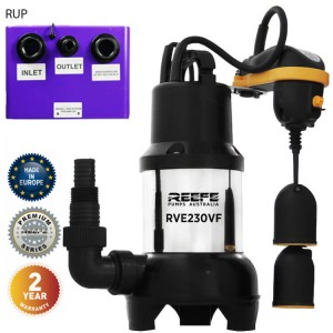 Reefe RUP230 undersink waste water pump system w vortex sump pump - Water Pumps Now