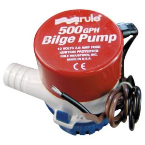Rule 500 12V 23LPM Submersible bilge boat baitbox pump - Water Pumps Now