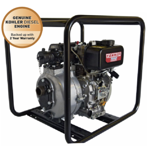 Yanmar and Kohler L70 diesel fire fighting pump - single impeller - recoil start
